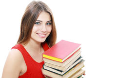 Student girl with books Stock Photography