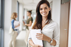 Student girl before classes Royalty Free Stock Images
