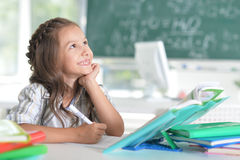 Student girl at classroom Royalty Free Stock Images