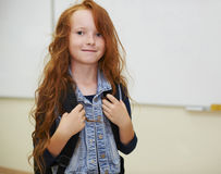 Student girl in the classroom Stock Image