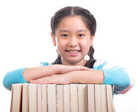 Student girl doing homework Royalty Free Stock Photography