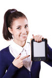 Student girl with e-reader Royalty Free Stock Photos