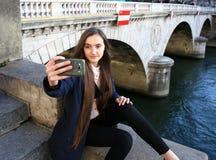 Student girl having fun Stock Photo