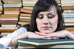 Student girl with her books Royalty Free Stock Photos