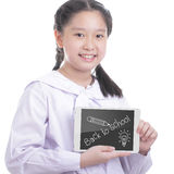 Student girl hold touch pad Stock Images
