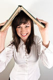 Student girl holding book Royalty Free Stock Image