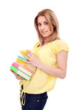 Student  girl holding books Royalty Free Stock Image