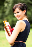 Student girl inthe park Stock Image