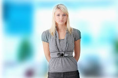 Student girl isolated Royalty Free Stock Photography