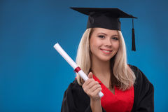 Student girl isolated Royalty Free Stock Image