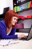 Student girl with laptop Stock Photography