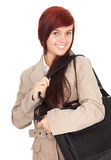 Student girl with laptop bag Stock Photography