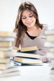 Student girl learning Royalty Free Stock Image