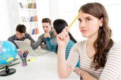 Student Girl Learning stock foto
