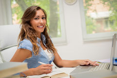 Student Girl Learning royalty-vrije stock fotografie
