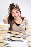Student girl learning Stock Photo
