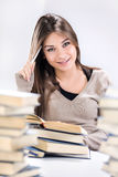 Student girl learning Royalty Free Stock Images
