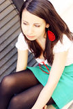 Student girl looking away Royalty Free Stock Photography