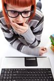 Student girl making mistake Stock Images