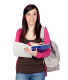 Student girl with a notebook Stock Photography
