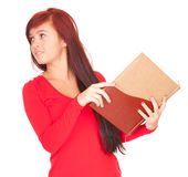 Student girl with notebook Royalty Free Stock Photos