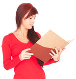 Student girl with notebook Stock Photography