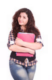 Student girl with notebook Stock Photos
