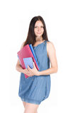 Student girl with notebook Stock Images