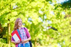 Student Girl Outdoors Going Back To School Stock Photography
