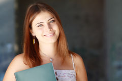 Student girl outside Royalty Free Stock Images