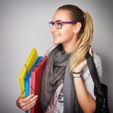 Student Girl Portrait Stock Photo