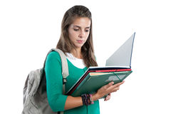 Student girl reading Royalty Free Stock Image