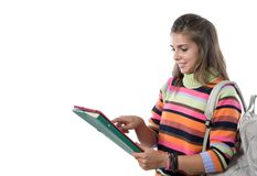 Student girl reading stock photos