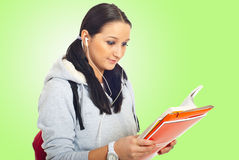 Student girl reading Stock Image