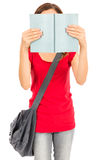 Student girl reading book Royalty Free Stock Image