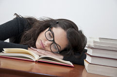 Student girl resting from learning Stock Image