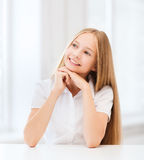 Student girl at school Royalty Free Stock Photography