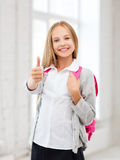 Student girl at school Royalty Free Stock Photos