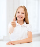 Student girl at school Royalty Free Stock Images