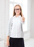 Student girl at school Stock Photos
