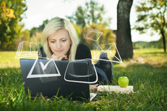 Student girl studying Royalty Free Stock Images