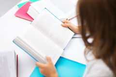Student girl studying at school Royalty Free Stock Photography