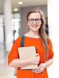 Student girl with tablet computer Royalty Free Stock Images
