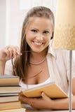 Student girl thinking Stock Photo