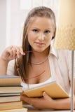 Student girl thinking Royalty Free Stock Image
