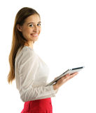Student girl using tablet pc Stock Photos