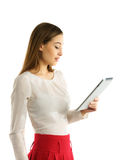 Student girl using tablet pc Royalty Free Stock Photo
