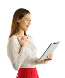 Student girl using tablet pc Stock Photography