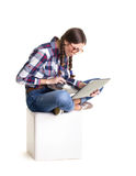 Student girl  working Stock Image