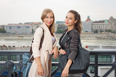 Student girls. Royalty Free Stock Images